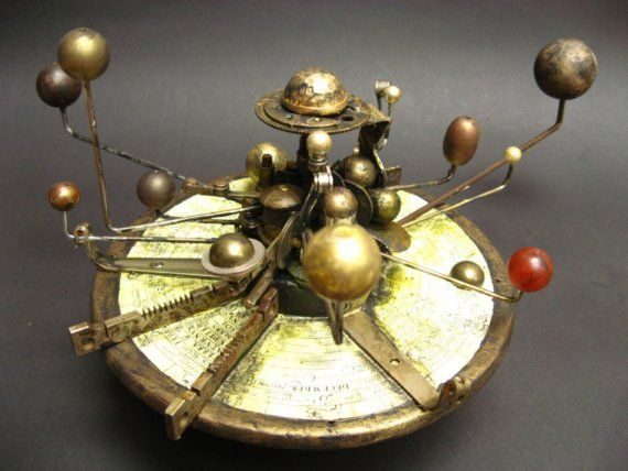 "These.  (This is called an ""Orrery."")"