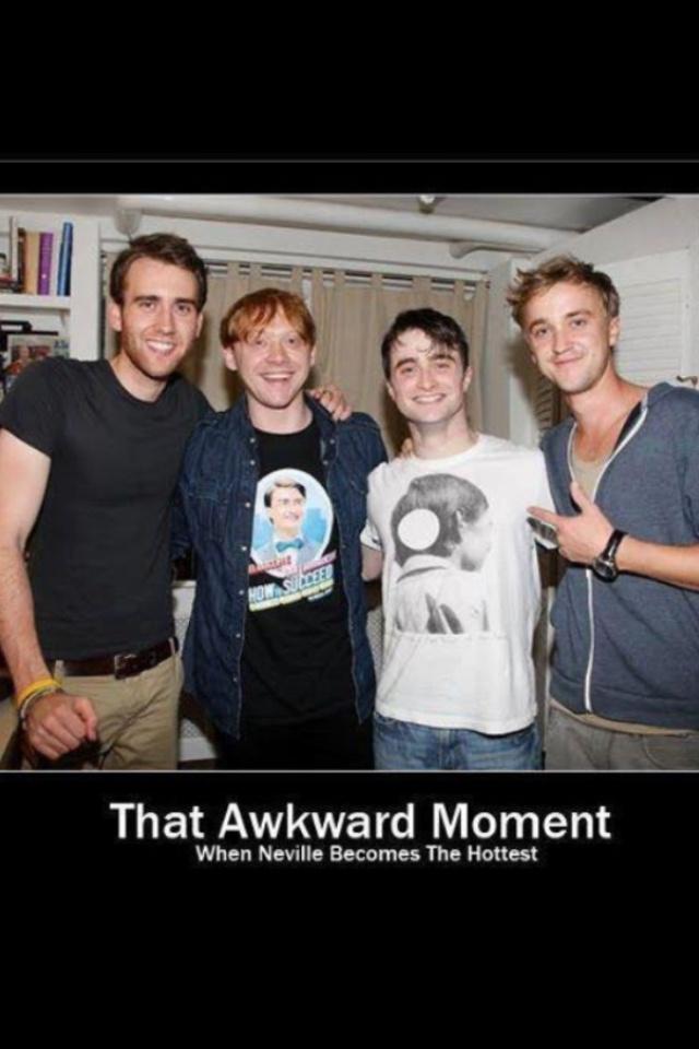 Neville Longbottom! OMG.