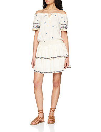 a57bda1220563 Pepe Jeans LUSHI PL952124 Vestido para Mujer Blanco (White 800) X-Small