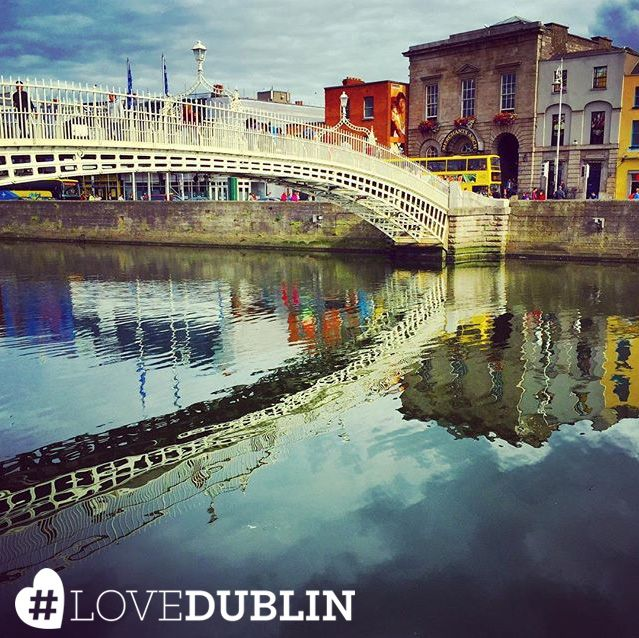 Sunny reflections of the Ha'Penny Bridge by @stefl24. Do you have summer pics of Dublin? Share them using #LoveDublin #love #Dublin #vsco #vscocam #travel  #photoftheday #pic #picoftheday #tip #ireland #photo #art #photography #artist #vacation #inspo #Ireland
