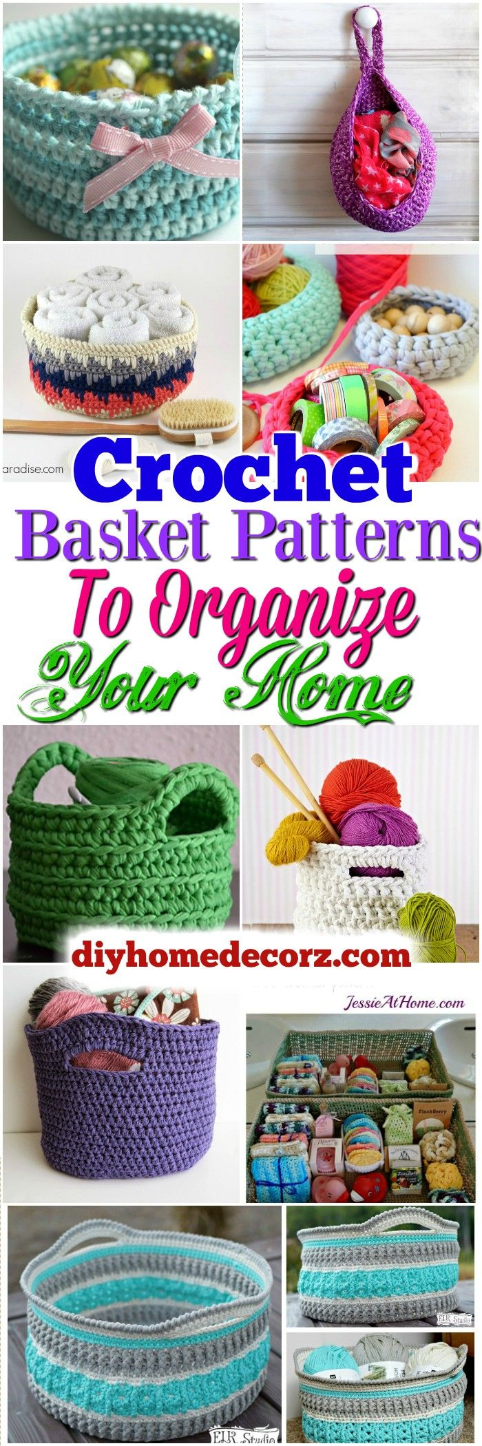 The 25 best crochet basket pattern ideas on pinterest crochet crochet basket patterns free crochet pillow patterns to brighten up your home bankloansurffo Image collections