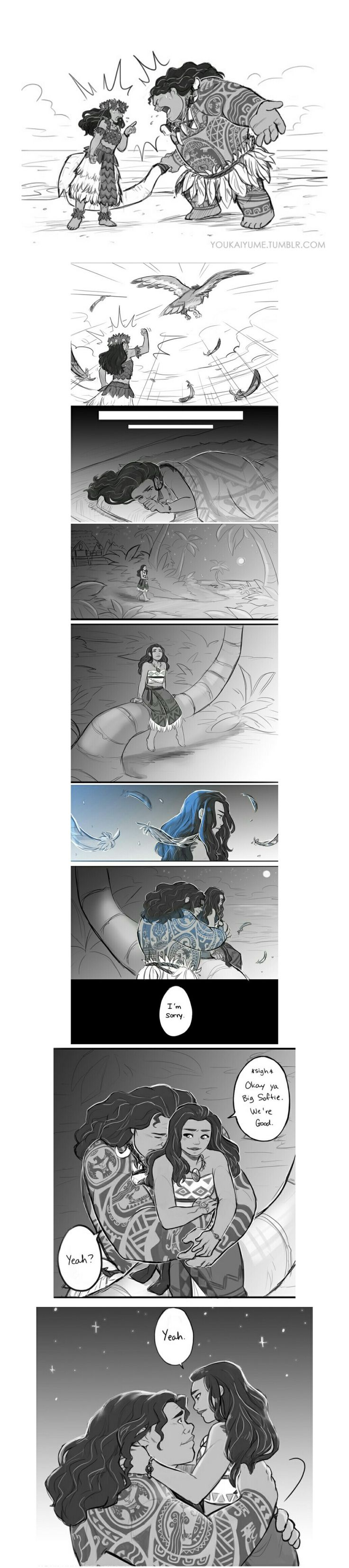 Moana and Maui comic