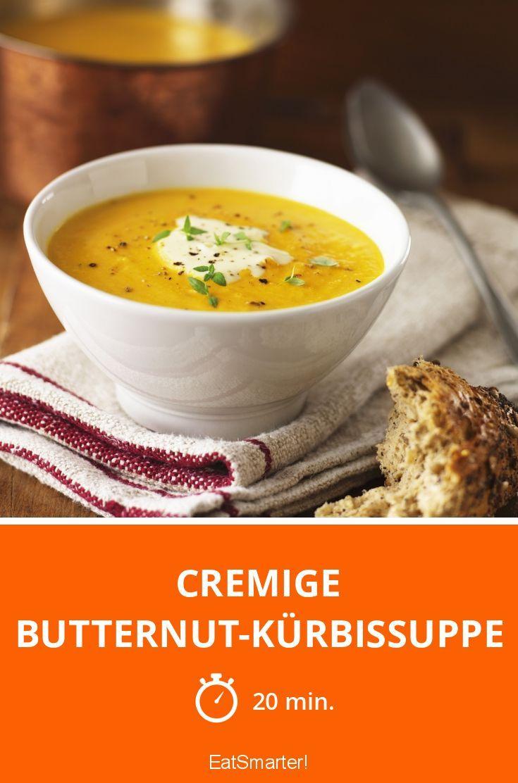 Cremige Butternut-Kürbissuppe - smarter - Zeit: 20 Min.   eatsmarter.de