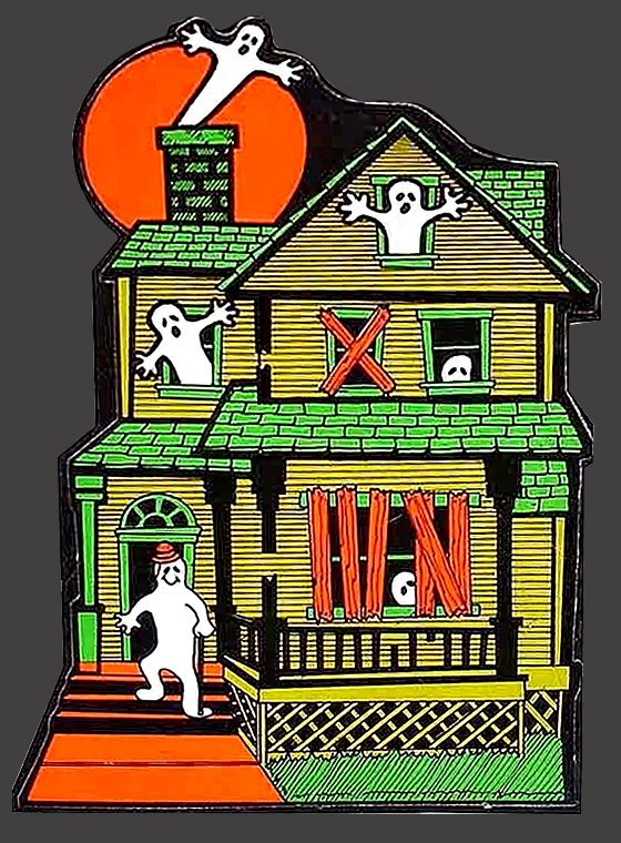 48 best haunted houses images on pinterest halloween Vintage halloween decorations uk