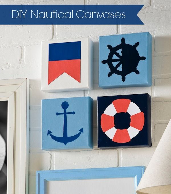 How to make DIY nautical canvases - the easy way!