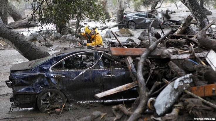 A storm that slammed a California coastal community is over. The search for its victims is not. Authorities in Santa Barbara County were still trying to reach new areas and dig into the destruction to find dead, injured or trapped people after a powerful mud flow swept away dozens of homes.  #USA