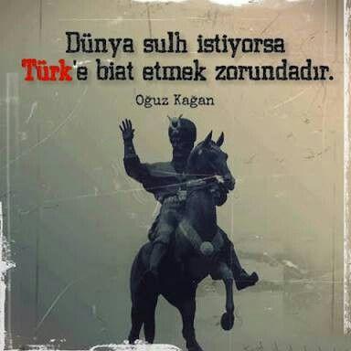 Türk kağanı Oğuz Kağan.