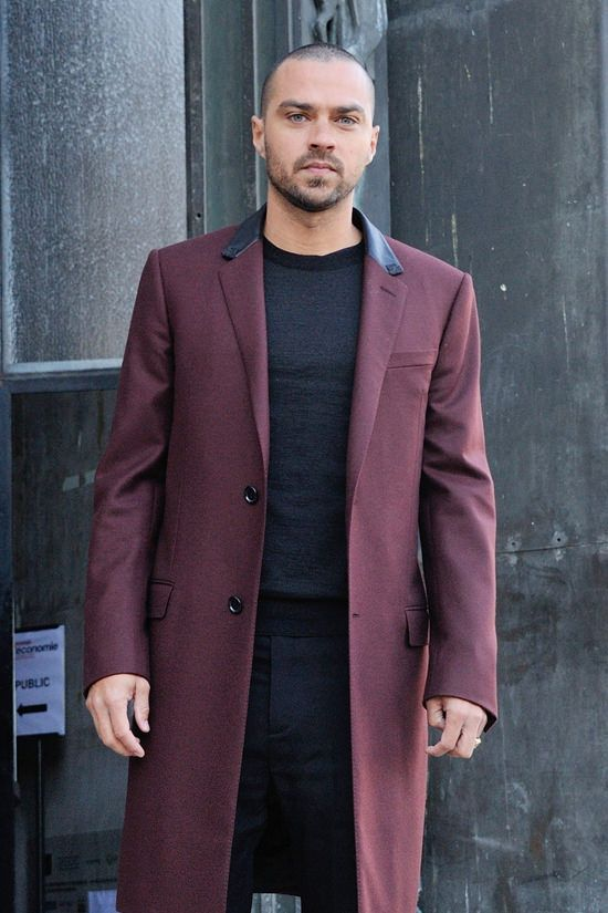 Jesse Williams at the Lanvin Fall 2017 Menswear Show
