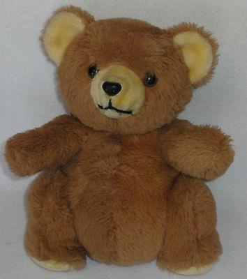 Daekor Plush Pot Belly Brown Teddy Bear Hudson Bay Trading