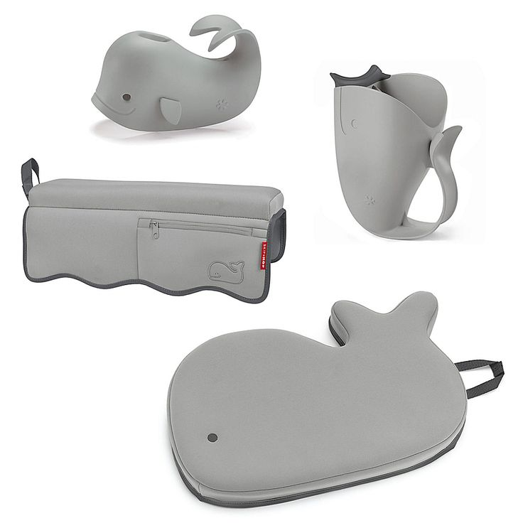 Skip Hop Moby 4 Piece Bath Time Essentials Kit In Grey In