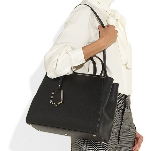FENDI Bags - Fendi 2jours medium tote black OR grey