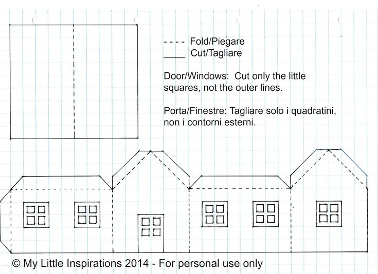 Best Templates Images On   Paper Houses Putz Houses