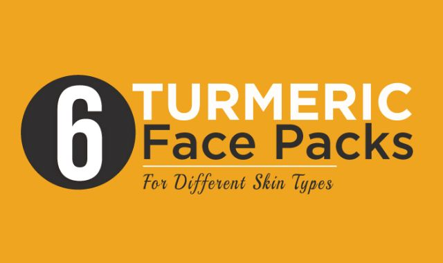 Turmeric has a wonderful antiseptic property which protects our body and keeps all the organs intact. It can be applied to our skin by preparing face packs and face masks, which helps to make the skin brighter, clearer, and flawless. In this infographic, StyleCraze has listed top 6 Turmeric Face Packs preparation and their application for different skin types.