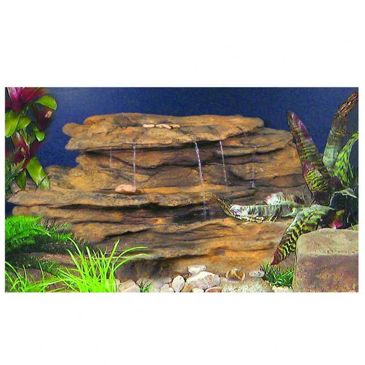 11 best aquarium rocks images on pinterest for Aquarium waterfall decoration