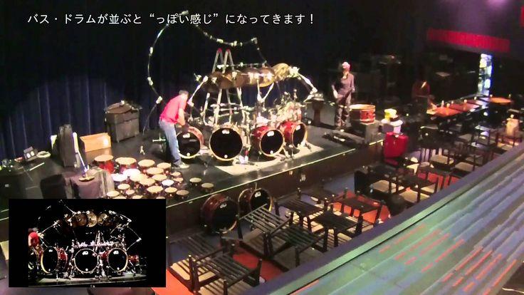 Terry Bozzio's Monster Kit Set up@20160104 Billboard Live Tokyo