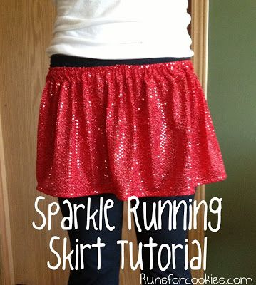 This will be our tink skirts...but I think the hem edge will be more of a zig zag pattern. diy sparkle running skirt