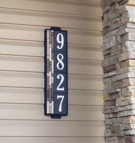 Stand out style! Earthtones Address Plaque.