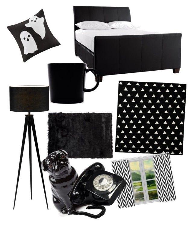 """Black & White"" by boipelo-johny on Polyvore featuring interior, interiors, interior design, home, home decor, interior decorating, Madison Park, iittala, Quail and GPO"