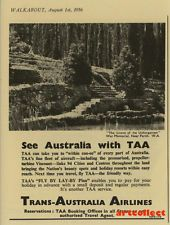 Original Vintage Australian Ad: TAA (1956)