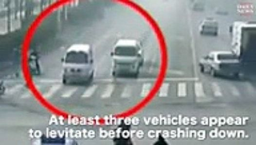 'Levitating' cars in China sparks viral video 'Levitating' cars in China sparks viral video