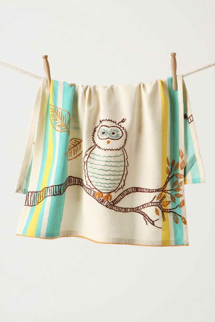 love owls, love embroidery... maybe I should learn how.  Maybe I will just love Anthropologie.