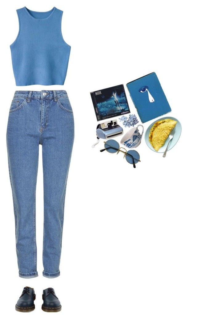 """""""He loves me not"""" by ihatepe0ple ❤ liked on Polyvore featuring Topshop, Polaroid, Juliska and Dr. Martens"""