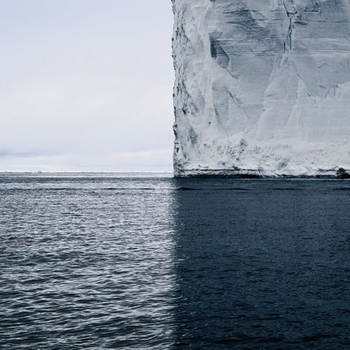 Greenland Iceberg, an awarded photograph in a series of near-sculptural photographs of icebergs shot by David Burdeny