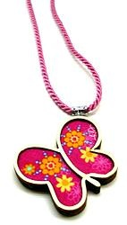 Happy Butterfly Necklace  by Andrea Macsar http://www.h-art.com.au/#!necklaces/c1y06