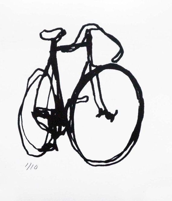 Bicycle Art Print  BSA Black on White by bicyclepaintings on Etsy, $20,00