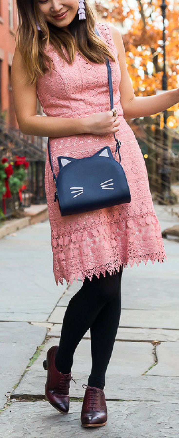 Cat bag fashion, cath kidston bag outfit, pink dress outfit. Shop the look on www.layersofchic.com