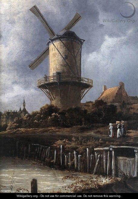 The Windmill at Wijk bij Duurstede (detail) c. 1670 - Jacob Van Ruisdael