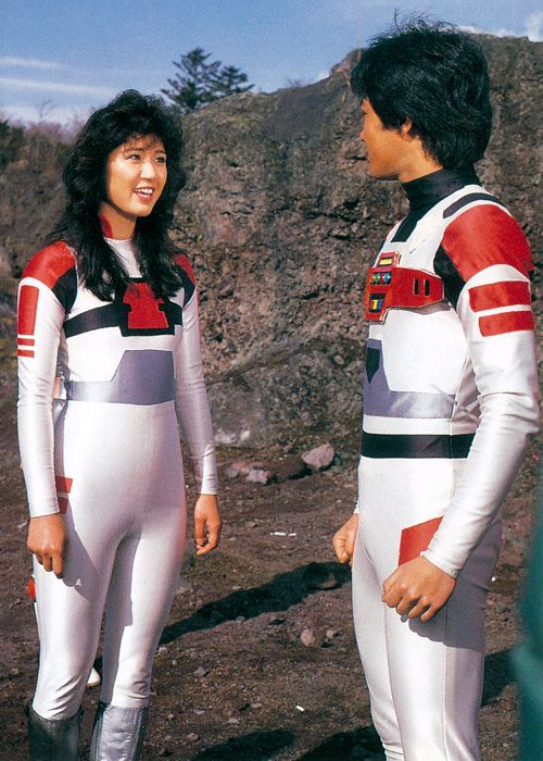 Den Iga and Lily from Space Sheriff Sharivan, 1984