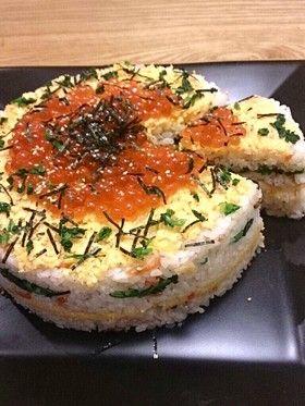 簡単!ちらし寿司ケーキ by モンズキッチン http://cookpad.com/recipe/2408354#share_other