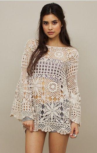 Crochetemoda: Selena Gomez - Crochet Tunic.