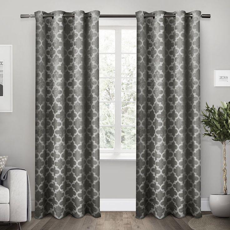 ati home cartago insulated woven blackout window curtain panel pair cartago vanilla 108inch