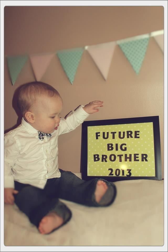 Sibling Pregnancy announcement. 2nd baby. Big brother!