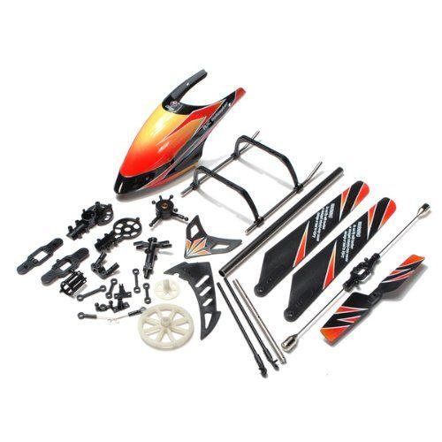 Orange Wltoys V912 Rc Helicopter Spare Parts Accessories Bag Kv912