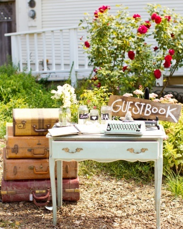 This guest book station was designed with so many meaningful touches