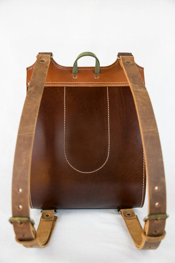 13 Colorful Leather Backpack / Messenger Bag by InBagWeTrust