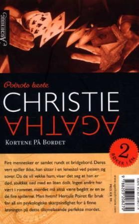 """""""Kortene på bordet ; Mord som medisin"""" av Agatha Christie"""