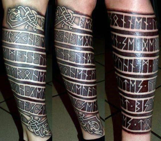 80 Rune Tattoos für Männer – germanische Schriftzug Design-Ideen