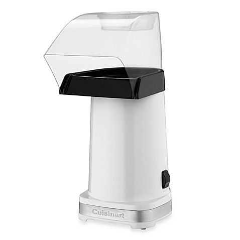 The EasyPop Hot Air Popcorn Maker from Cuisinart® would make munching on perfectly-made homemade popcorn while cuddled on the sofa for movie night a welcome family tradition. Unit makes 10 cups of popcorn in less than 3 minutes.