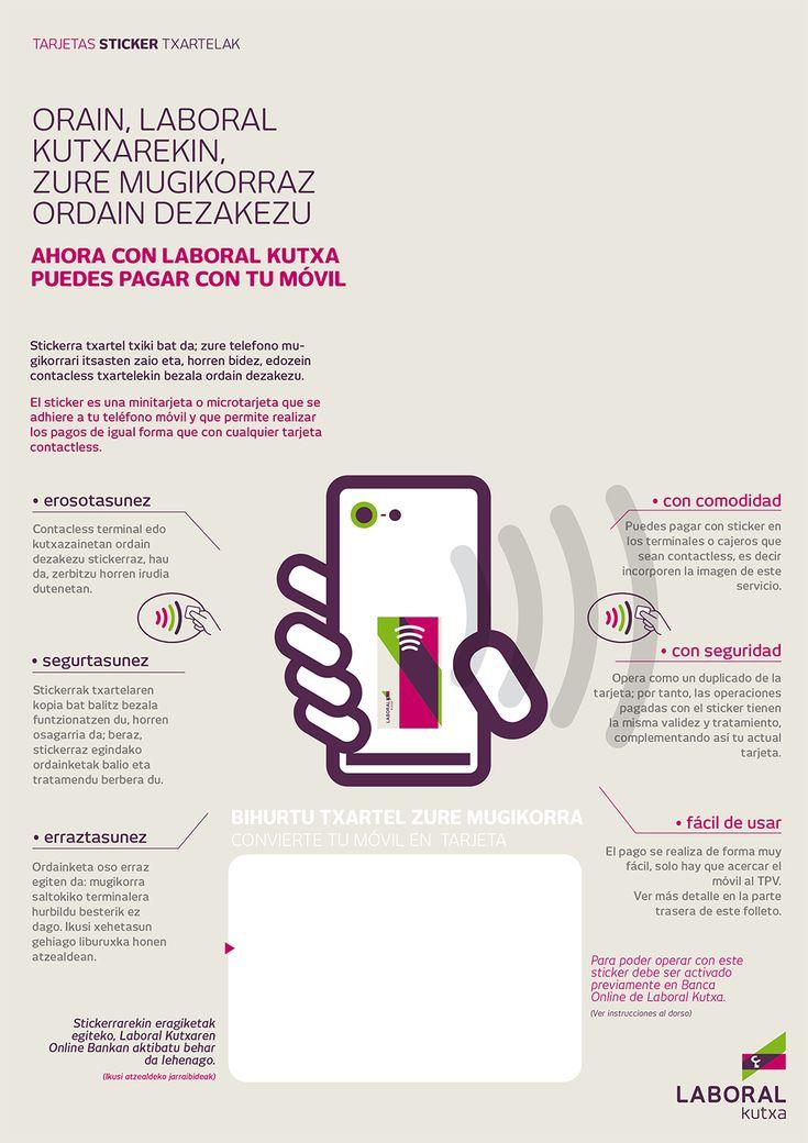 Sticker de LABORAL Kutxa, la pegatina que te permite hacer pagos con el móvil