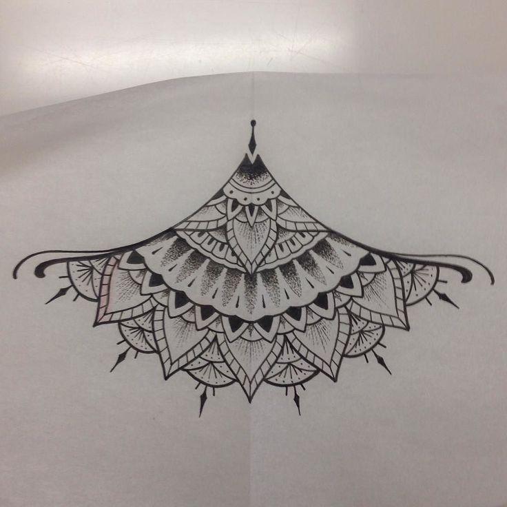 Santa Cruz CA: Drew this here doohickey for under the thingamajiggers. #santacruz #california #centralcoast #capitola #sanjose #watsonville #831 #monterey #montereybay #tattoosforwomen #tattooart #linework #boobs by tattooerjesse