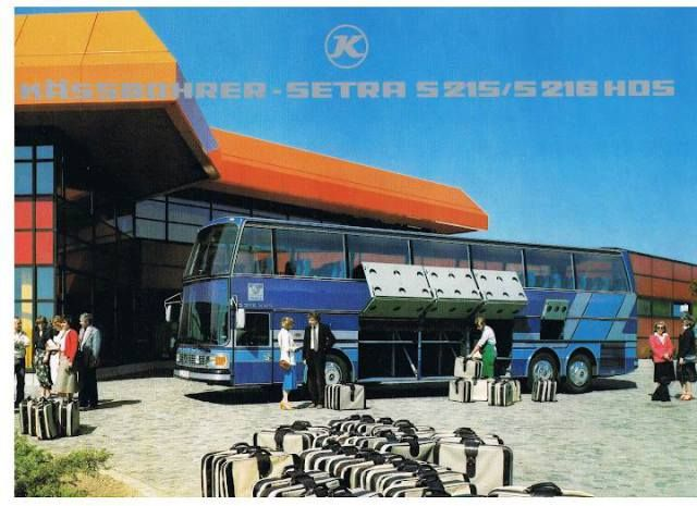 #1980 #SETRA #S215-S216HDS  #BUS #Busworld #SETRA ( #1911 #Karl #Kässbohrer #Fahrzeugwerke #GmBH) #Daimler_AG #DE