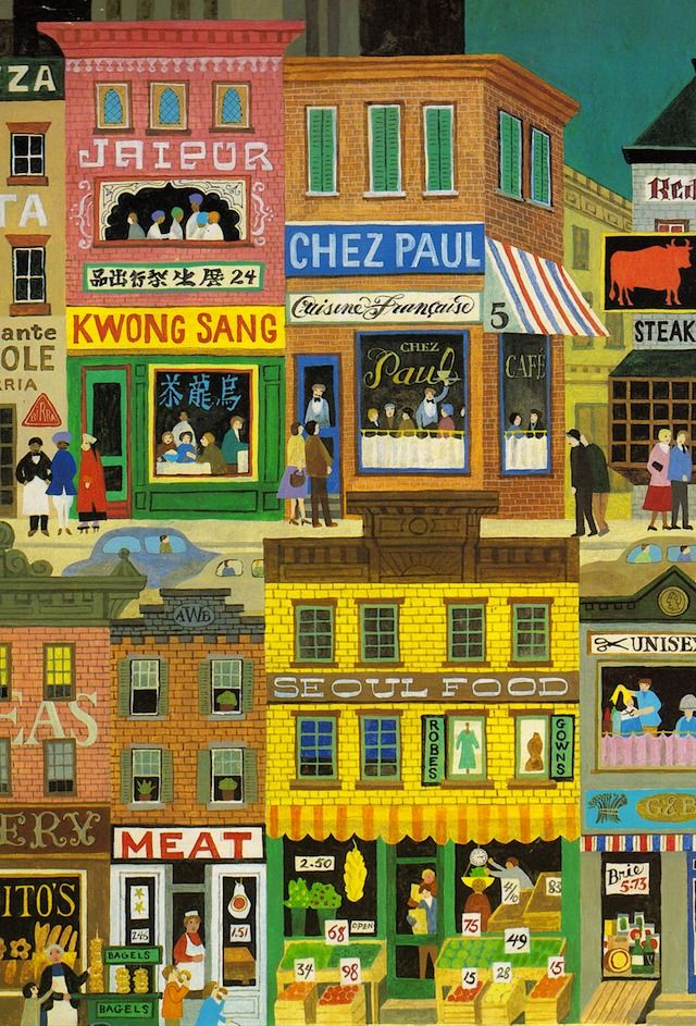 iconoclassic:  (via my vintage book collection (in blog form).: Town & Country - illustrated by Alice & Martin Provensen)