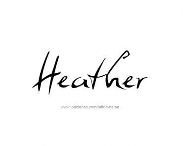 Heather Name Tattoo Designs Hazel Haylie