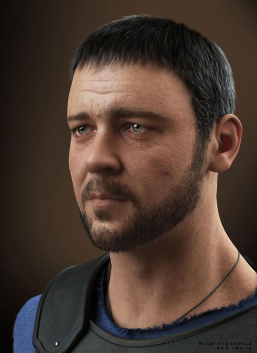 Russell Crowe - Gladiator 3d character