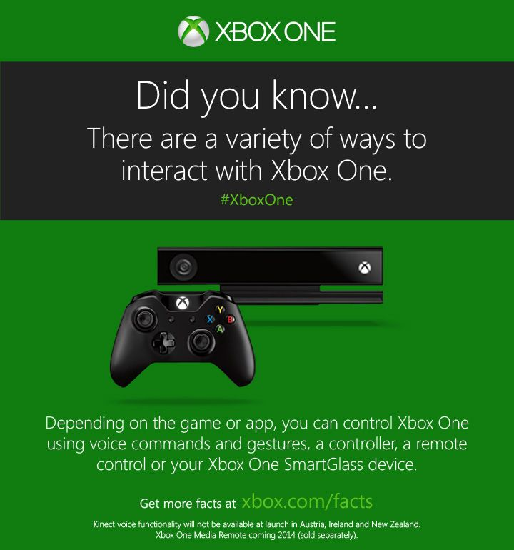 One console. Numerous ways to control it.  http://www.xbox.com/xbox-one/get-the-facts