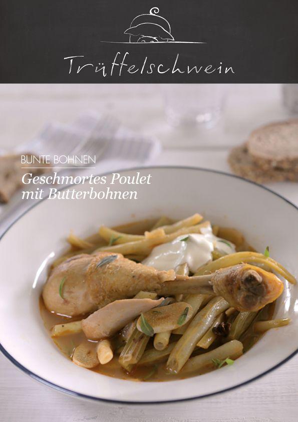 Geschmortes Poulet mit Butterbohnen #chicken #beans